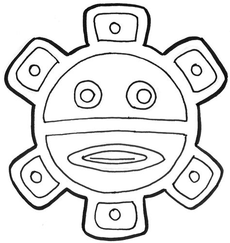 taino sun clean line by mavericktears on deviantart