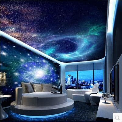 Galaxy Bedroom Wallpaper by Free Shipping Ktv Bar A Large Mural Of The Universe