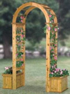 Wooden Garden Arch With Planters by 1000 Images About Garden Arch On Arches