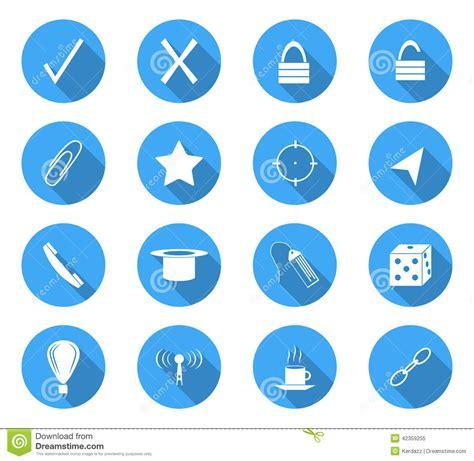 design icon circle flat design icons stock vector image 42359255