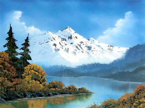 bob ross painting the of painting with bob ross winter mountains