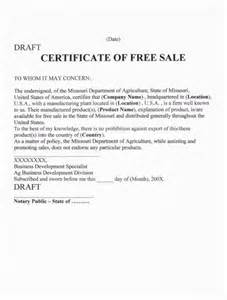 Free Sale Certificate Template by Xvon Image Certificate Of Free Sale Template