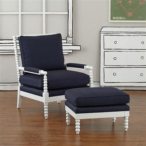 navy blue chair and ottoman hickory tannery white and blue royal spindle chair