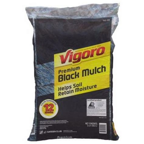 vigoro 670 1000 2 cu ft black mulch from home depot for