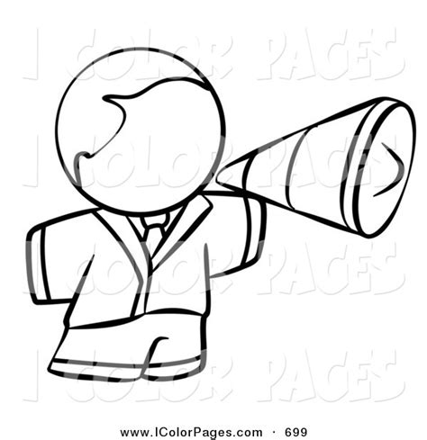 megaphone coloring page pictures to pin on pinterest