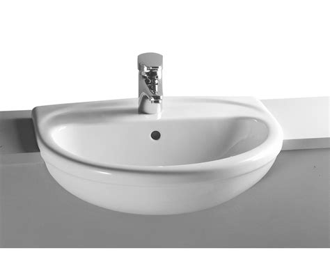Vitra arkitekt 56cm semi recessed basin 1th 6130b003 0005