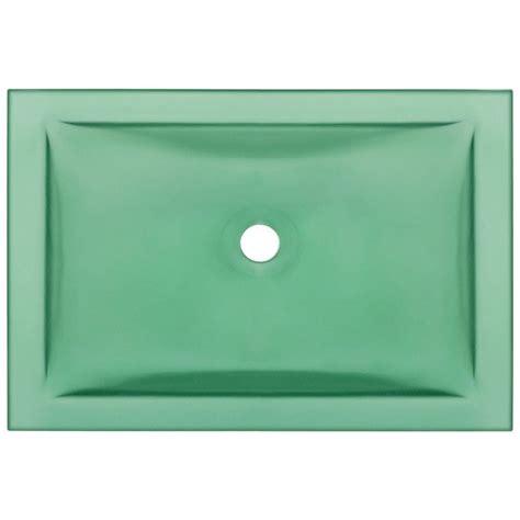 mr direct bathroom sinks mr direct undermount glass bathroom sink in emerald ug1913