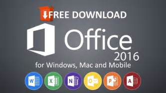 how to microsoft office 2016 totally free