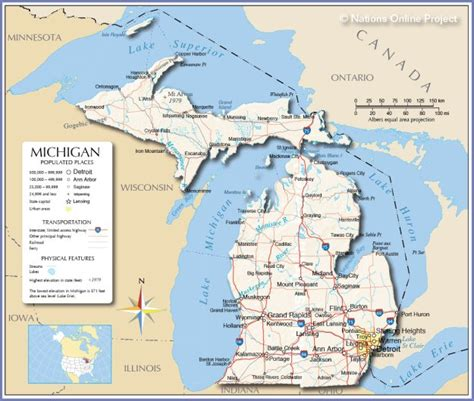 printable w 9 michigan large print map of michigan pictures to pin on pinterest