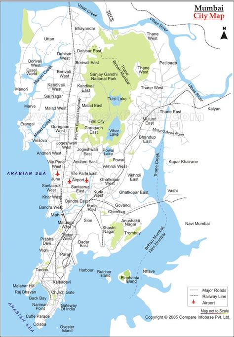 mumbai map mumbai city map mumbai india mappery