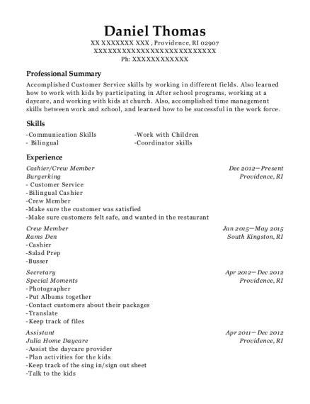Crew Resume by Best Cashier Crew Member Resumes Resumehelp