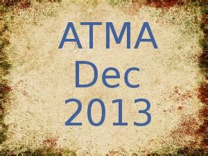 Atma Mba Date by Atma Dec 2013 To Be Conducted On 8 Dec For Mba Pgdm
