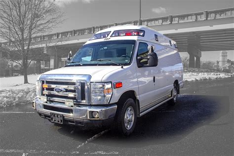 ford  gas malley type  ambulance   miles