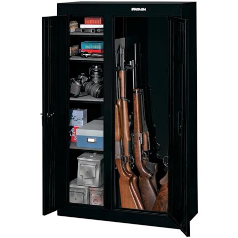 Gun Storage Cabinets by Stack On 174 10 Gun Door Security Cabinet 616691