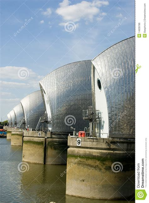thames barrier from greenwich river thames flood barrier greenwich royalty free stock