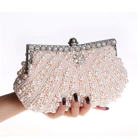 Clutch Handmade - luxury pearl handmade evening bag clutch