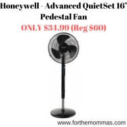 Rite Aid Home Design Stand Fan by Honeywell Advanced Quietset 16 Quot Pedestal Fan Only 34 99