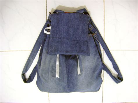 jeans backpack pattern back to school diy denim backpack from old jeans