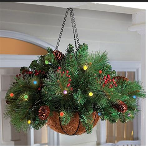 hanging baskets with lights hanging baskets with lights for indoor