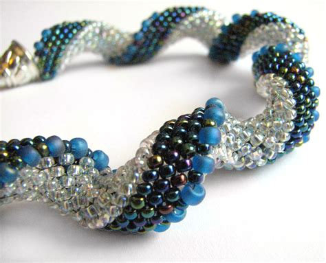 peyote bead bracelet spiral peyote bracelet by roni
