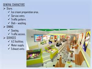 Ice Cream Shop Floor Plan planning process and types of spaces in ice cream parlor