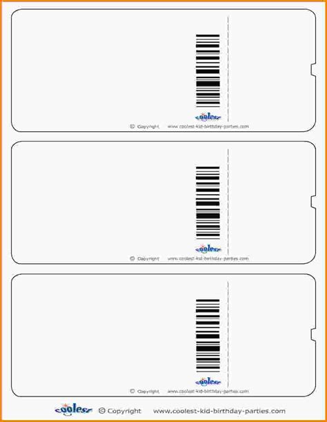 printing templates 9 printable tickets template letter template word