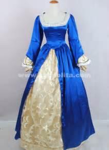 2016 brand new elegant blue long sleeves victorian ball