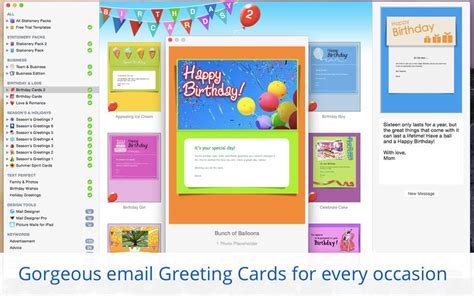free greeting card templates for mac stationery greeting cards templates for apple mail on the