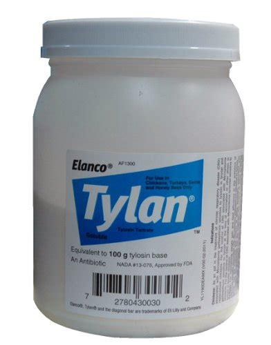 tylosin for dogs elanco dc120 tylan soluble powder 100grams tylan powder