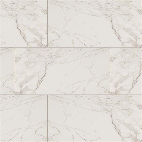 msi pietra series carrara marble look porcelain tile in polished finished size 12 quot x 24 quot snl
