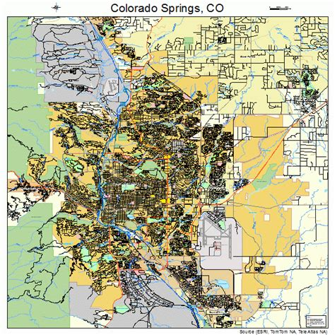 colorado springs co map colorado springs colorado map 0816000