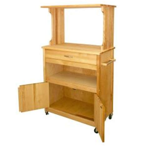 catskill craftsmen birch 17 in microwave cart