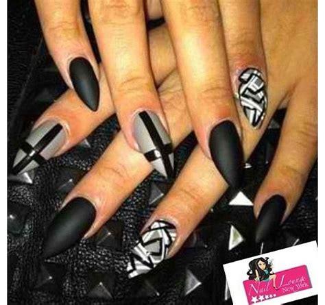 matte black nail designs stiletto nails matte black nail 21 stiletto