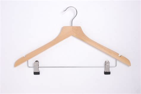 high quality wooden wishbone hanger with clips