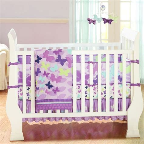 Purple Butterfly Crib Bedding Baby Bedding Crib Cot Sets 7 Purple Butterfly Theme Paislee Wagner Pinterest