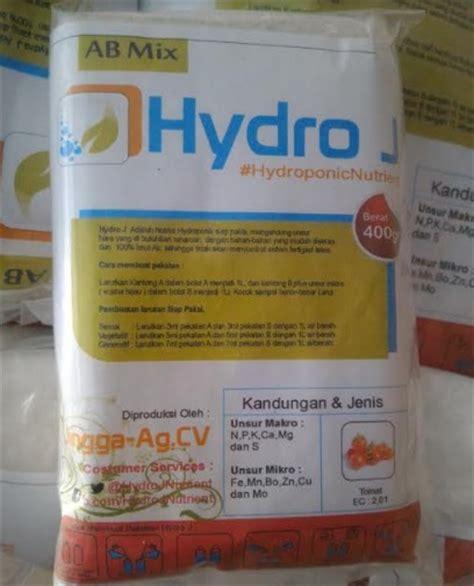 Nutrisi Hidroponik Strawberry Ab Mix Hydro J jual nutrisi hidroponik ab mix tomat hydro j 1 l 400 gram