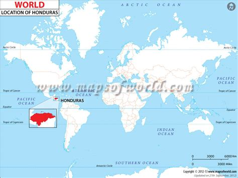 honduras on a world map where is honduras location of honduras