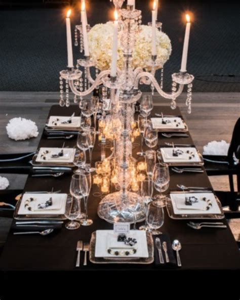 Gold Eiffel Tower Vases 58 Elegant Black And White Wedding Table Settings