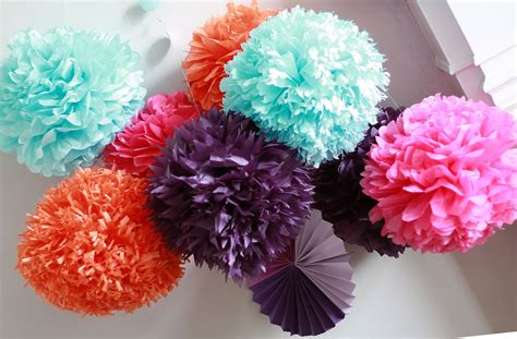 How To Make Decoration Out Of Tissue Paper - how to diy paper pom tutorial decorations that impress