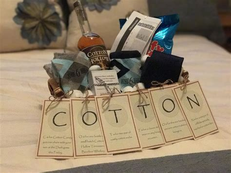 Wedding Anniversary Gifts Cotton by The Quot Cotton Quot Anniversary Gift For Him Anniversary