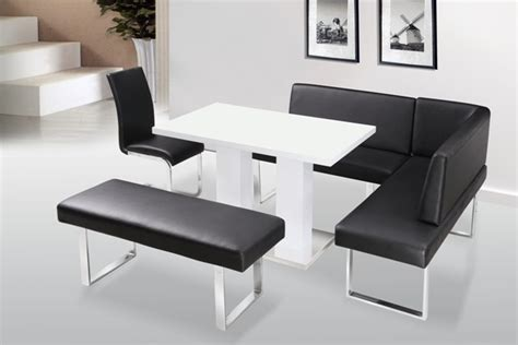 Corner Dining Table Bench Liberty High Gloss Dining Table Corner Bench Standard Bench