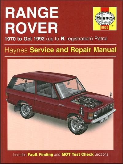 best car repair manuals 1992 land rover range rover instrument cluster range rover up to k reg v8 repair manual 1970 1992 haynes 0606