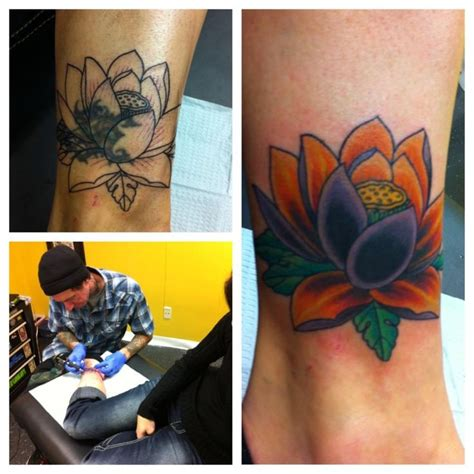 tattoo flower cover ups my lotus flower tattoo cover up tattoos pinterest