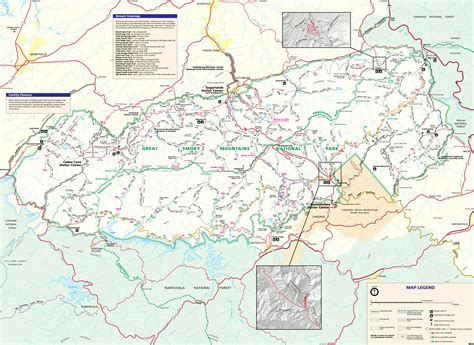 great smoky mountains national park map great smoky mountains national park map map3