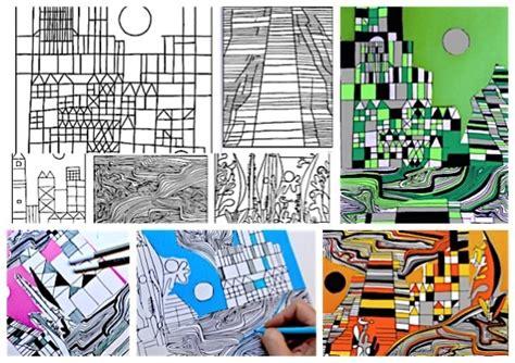 arte e immagine scuola media test ingresso collage paul klee 5 fogli di lavoro miriam paternoster