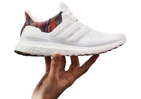 Sepatu Adidas Ultra Boost Rainbow White Multicolor Sneaker New 2017 miadidas ultra boost rainbow multi color release date