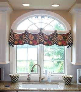 Bow Window Treatment from the workroom of parkway window works knob knob who