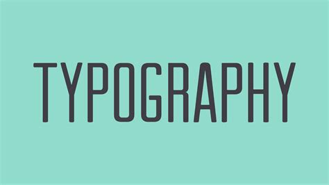 typography in beginning graphic design typography