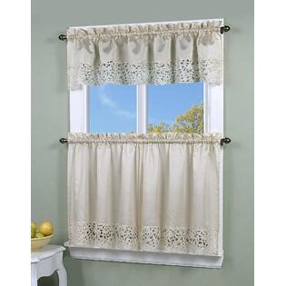 Kitchen Curtains At Kmart Simply Window Brighton Cutwork Kitchen Curtain Valance Home Home Decor Window Treatments