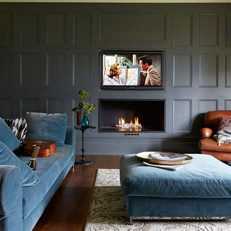 Masculine Bathroom Ideas by Grey Panelled Living Room Living Room Decorating Ideal